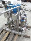 Used- Sanitary 3'' Valve Banks, Stainless Steel. (1) Bank with (3) Keystone Morin 316 stainless steel actuators, and (8) Tuc...