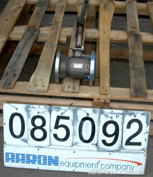 "Used- Worcester 3"" Diameter Manual Ball Valve, 316 Stainless Steel. Rated 150 PSI at 275 Degrees F. Seat material TFE. 7-1/2..."