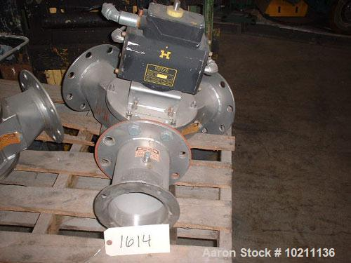 Used-Young Diverter Valve, Size 5, Model VT.Includes Keystone pneumatic actuators.