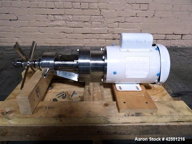 "Used- B. Braun Foam Breaker, 316 Stainless Steel. (4) Blades, 10"" diameter span blade, mechanical seal, direct coupled 1 hp,..."