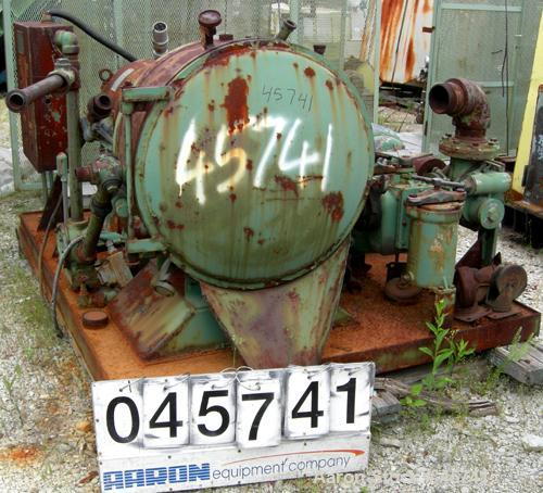 """Used- Cornell Versator, Model D-26, Carbon Steel. 26"""" diameter disc, rated 1000-3200 rpm, 5-125 gallons per minute. Swing aw..."""