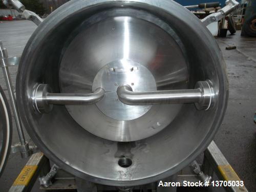 Used-Cornell Model #D-26 Versator. Type 316 Polished Sanitary Stainless Steel. Sanitary Connections, Quick opening hinged st...