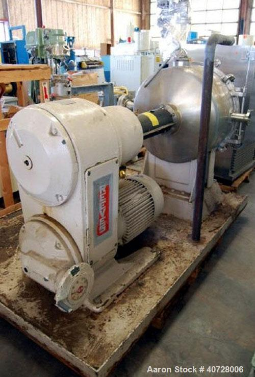 "Used- Cornell Versator, model D26LH. Stainless Steel. 26"" diameter disc, rated 1000-3200 rpm, 5-125 gallons per minute. Dish..."
