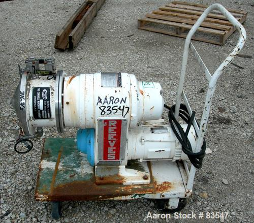 """Used- Cornell Versator, Model D-8, 316 Stainless Steel. 8"""" diameter disc, rated 2000-6000 rpm. 0-2 gallons per minute. Glass..."""