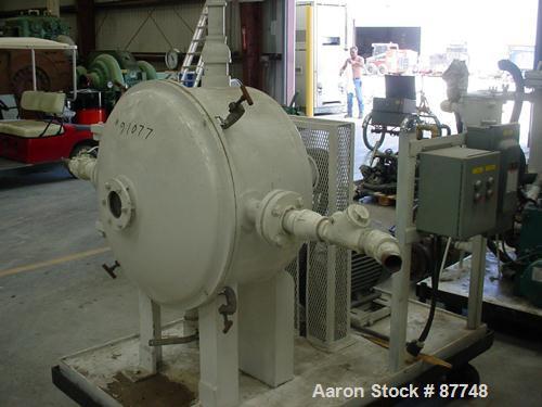 "Used- Cornell Versator, Model D26LH. Stainless steel internal, carbon steel housing. 26"" diameter disc, rated 1000-3200 rpm,..."