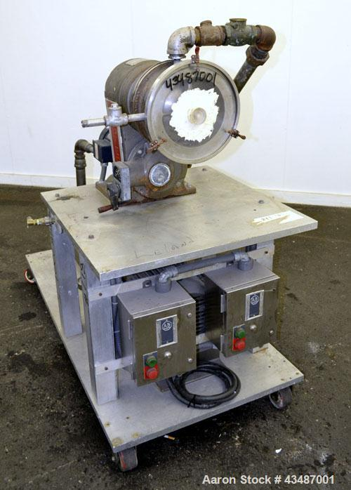 "Used- Cornell Machine Versator, Model D-8, 316 Stainless Steel. 8"" Diameter disc, rated 2000-6000 rpm,up to 2 gallons per mi..."