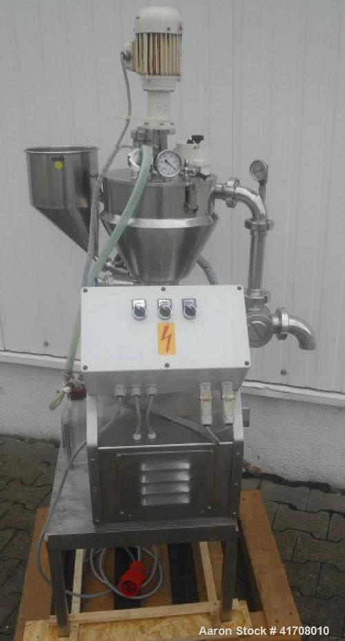 Used- Fryma Delmix MZM VK-7 Laboratory Cream Manufacturing Plant. Stainless steel, working capacity 1.84 gallons (7 liters),...