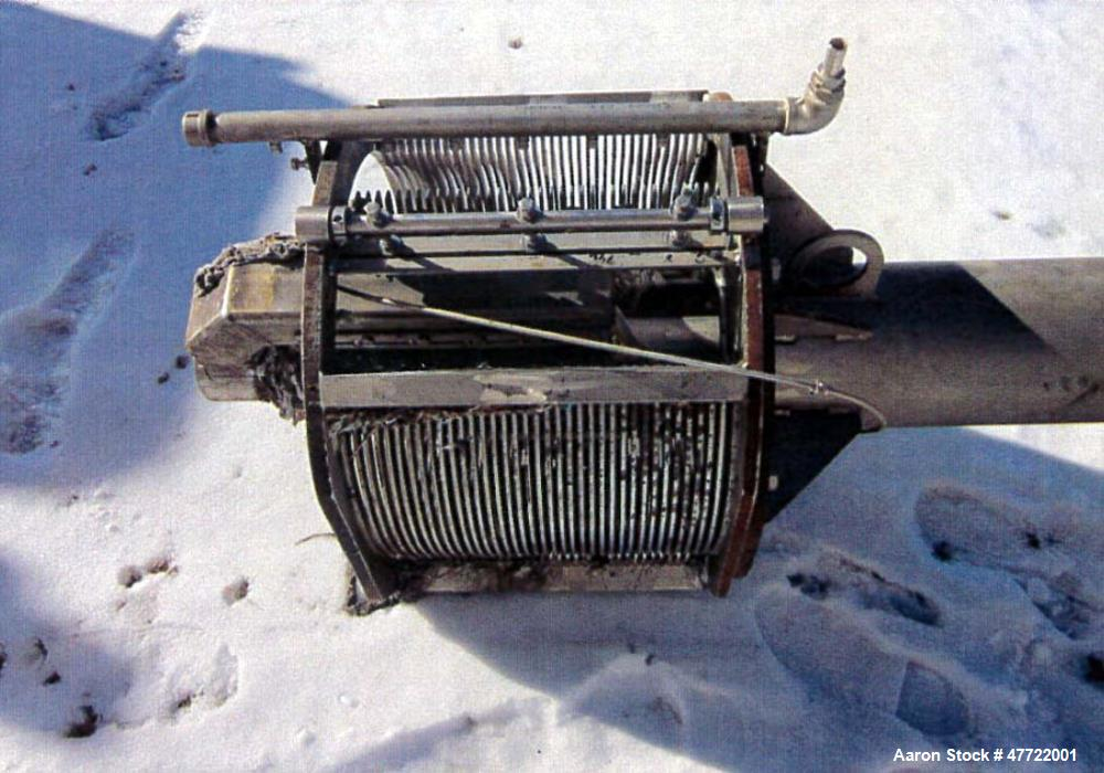 Used- Lakeside Raptor Fine Screen Unit, Model number 24FS-0.25-60. 1 MGD capacity with 2 HP motor purchased in 2012 (no heat...