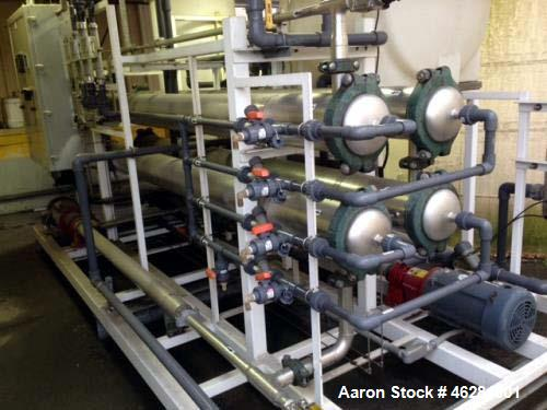 Used- Reverse Osmosis System. Flow rate of up to 10 gpm permeate. Pressure up to 900 psi.