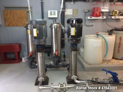 Used- Reverse Osmosis System. Twin system that can produce 180,000 GPD, 125 GPM total from brackish water. Each twin is a tw...