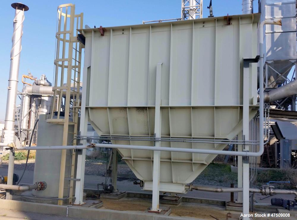 Used- Lamella Plate Clarifier, used for settling solids from liquids. Measures:6' x 12' x 18H, Constructed of Carbon steel.