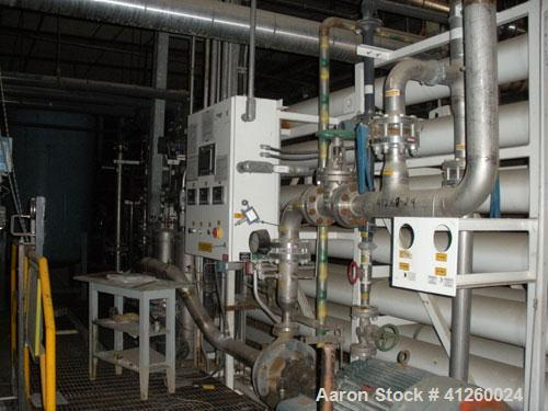 Used- Zenon Environmental Inc Reverse Osmosis System. 250 psi operating pressure at 35 deg C, perm rate 240 USGPM, 11 tubes ...