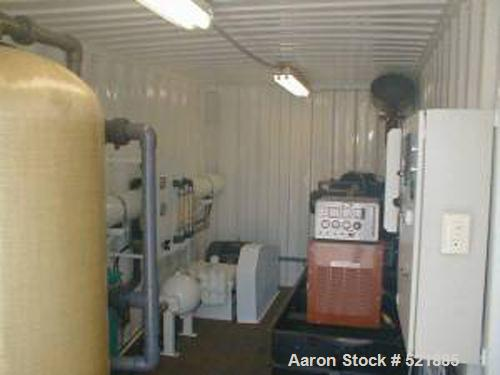 USED: Reverse osmosis water treatment plant. 15,000 gallon/dayportable reverse osmosis plant (seawater or brackish water fee...