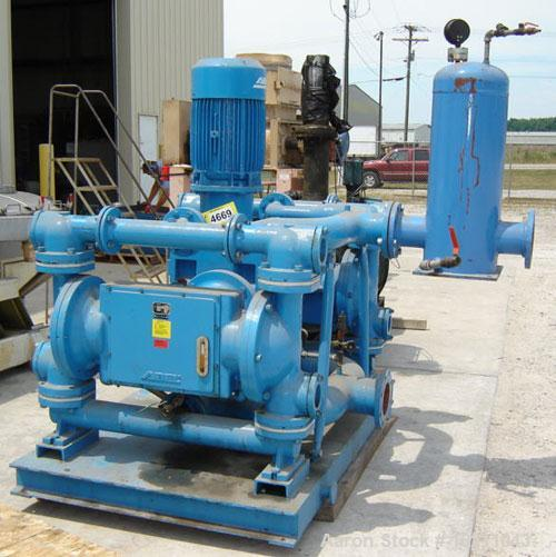Used- 350 gpm at 90 psi Abel EM (Electromechanical Membrane) Pump, Model EM-1257
