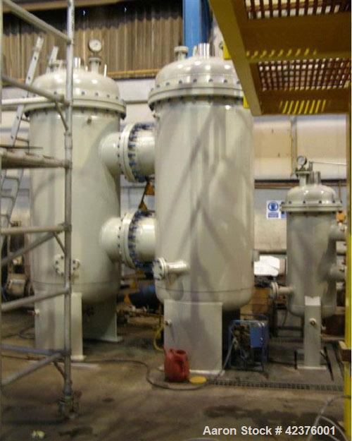 "Used- Carbon Steel Amafilter Coarse Filter and Amafilter Flush Water Filter Package comprised of two (2) 39.37"" (1000 mm) seawater filters"