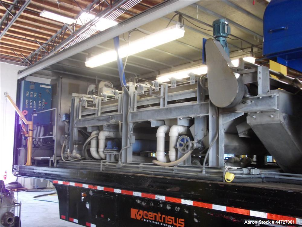 Used-Ashbrook Gravity Belt Thickener, Model AB, Size 2.  Belt size 1.7 x 9.425 meters. Comes with O&M manual, panel and lube...