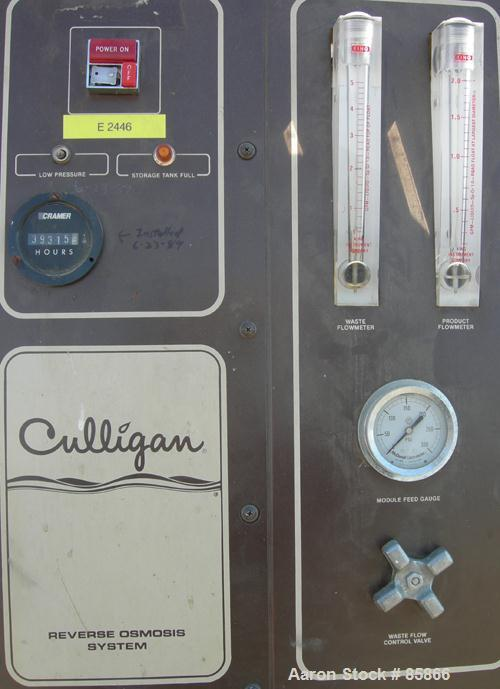 Used- Culligan Aqua-Cleer Water Treatment Reverse Osmosis System, Series M. Approximate 1 gallon per minute flow rate. Maxim...