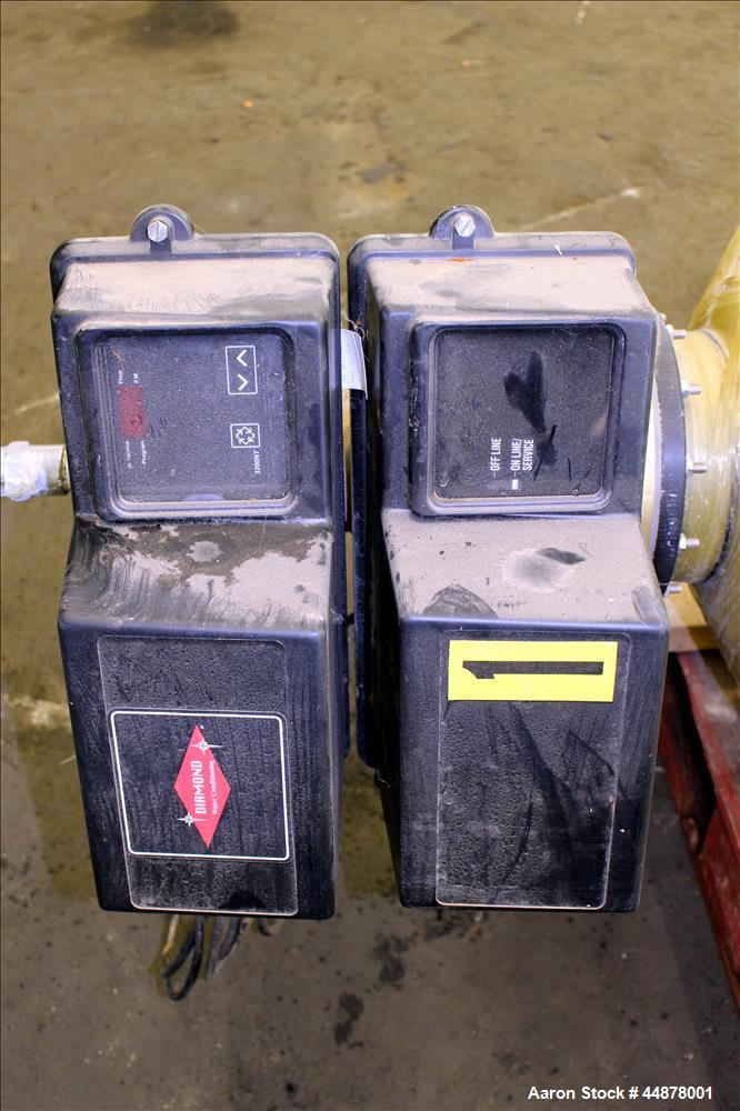 Used- (2) Diamond Water Conditioning Water Softeners, Model TCR-240-3NT-HF