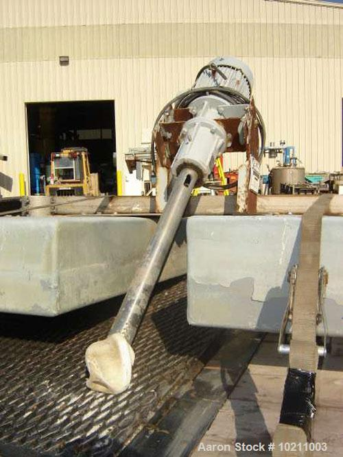 Used-Eimco Propulsair Aerator, model 075.  7.5 hp, 1725 rpm, 230/460 volt Reliance Duty Master AC TEFC motor. Stainless stee...