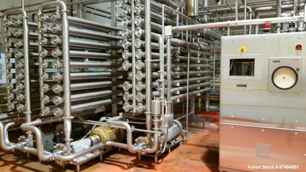 "Used- Three Loop Reverse Osmosis (RO) System. Sixty (60) vessel system holds two hundred seventy-six (276) 3.8"" membranes = ..."