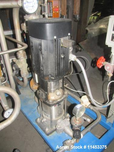 Used-Finn Aqua Pure Steam Generator, Model 1500-S-1. Single still with pump.