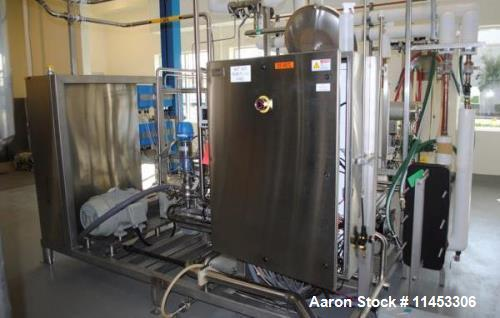 Used- GEA Niro Two Stage Reverse Osmosis Ultra Filtration Unit. 316 stainless steel construction, processing up to 222 kg/ho...