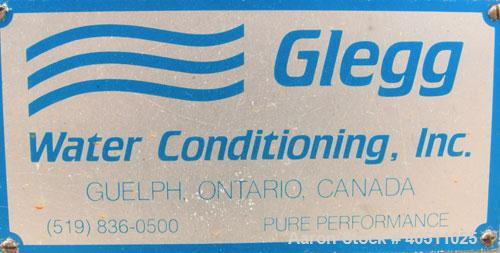 Used- Glegg Water Conditioning Inc Reverse Osmosis Filter System. Product flow rate/bank 154 gpm (normal), 180 gpm (peak). W...