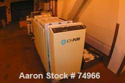 "USED: IonPure Continuous Water Deionizer. 2 plate states 22"" long x 16"" wide x 3' high, control panel, 2 flow meters, 1 cond..."