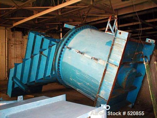 Used- Lamella Sloped Plate Clarifier, Model 360/55 LGST. Includes a sludge tank and rake and flocculation tank.