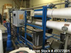 "Used- US Filter Modified Vantage Reverse Osmosis System, Model 67/MSM83001. Packaged single pass 8"" unit. Includes 2 water f..."