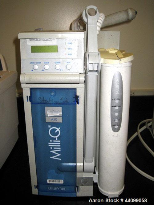Used- Millipore Mili-Q water filter, model A10, Cat# ZMQS600T1, 115 volt, serial# F5DN64009A.