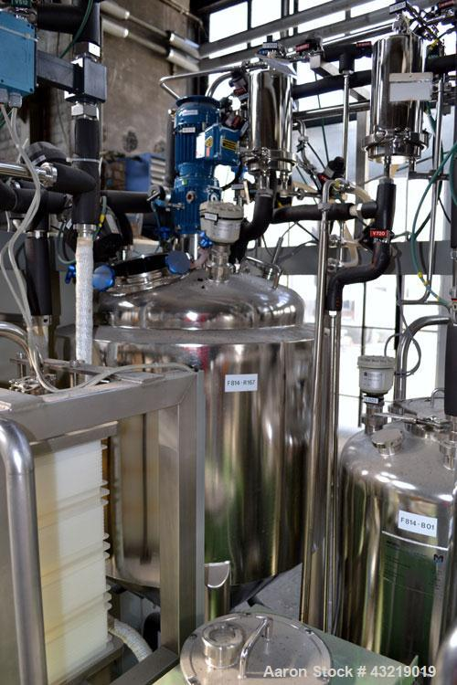 Used- Millipore Ultra Filtration System, Type MSP 006145, Consisting Of: (1) Mavag Reactor, 200 Liter (52.85 Gallon), 316L s...