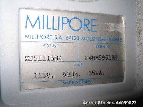 Used- Millipore Mili-Q water filter, Cat# ZD5111584, 115 volt, serial# F4HM59618K.