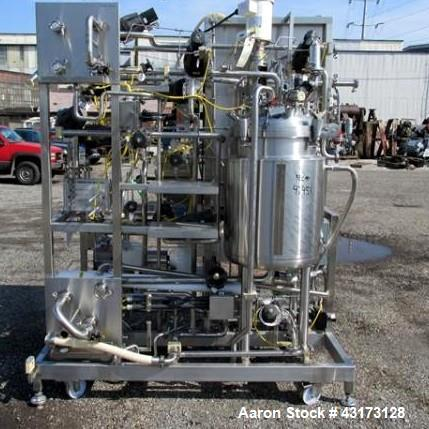 Used-Millipore Ultra Filtration skid consisting of One Millipore filter system, currently with (3) Millipore Pelican 2 filte...