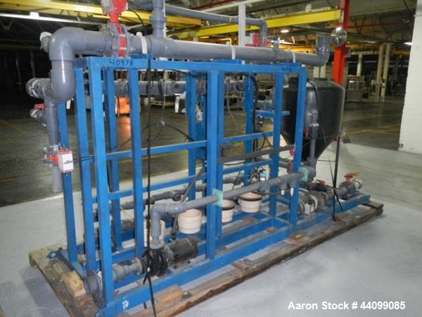 Used- WaterLink reverse osmosis unit, type MS-30K, 6 pass with (2) Grundfos vertical pumps, on unitized base, with WaterLink...