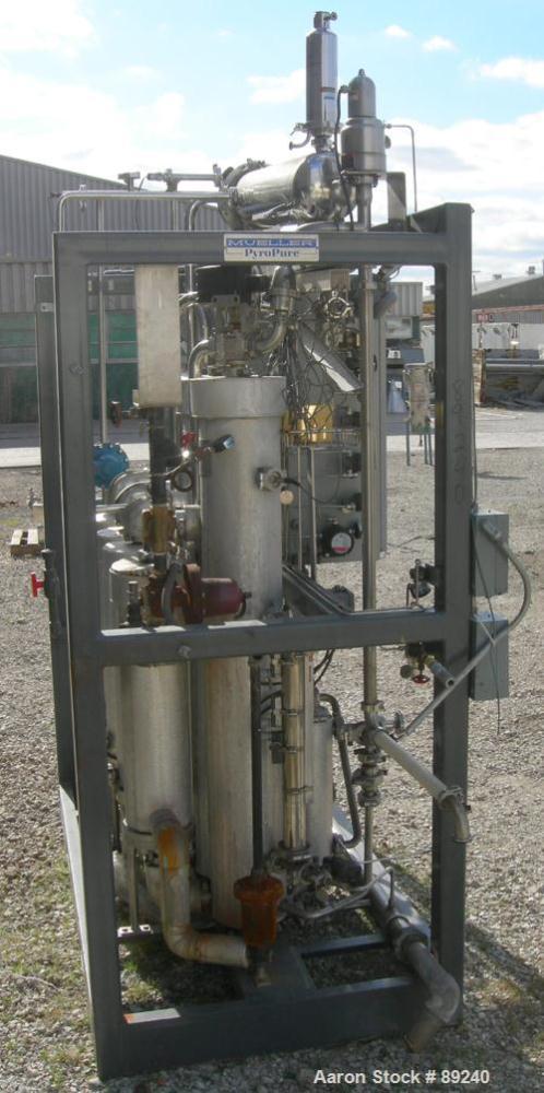 Used- Stainless Steel Mueller PyroPure Multiple Effect Still, Model MES160-4