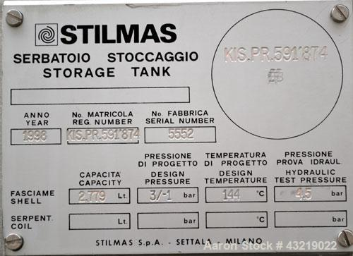 "Used- Stilmas High Efficiency ""Mascarini"" Water Super-Still, Type FA225HR/SA, 316 Stainless Steel. Approximate capacity 60 g..."