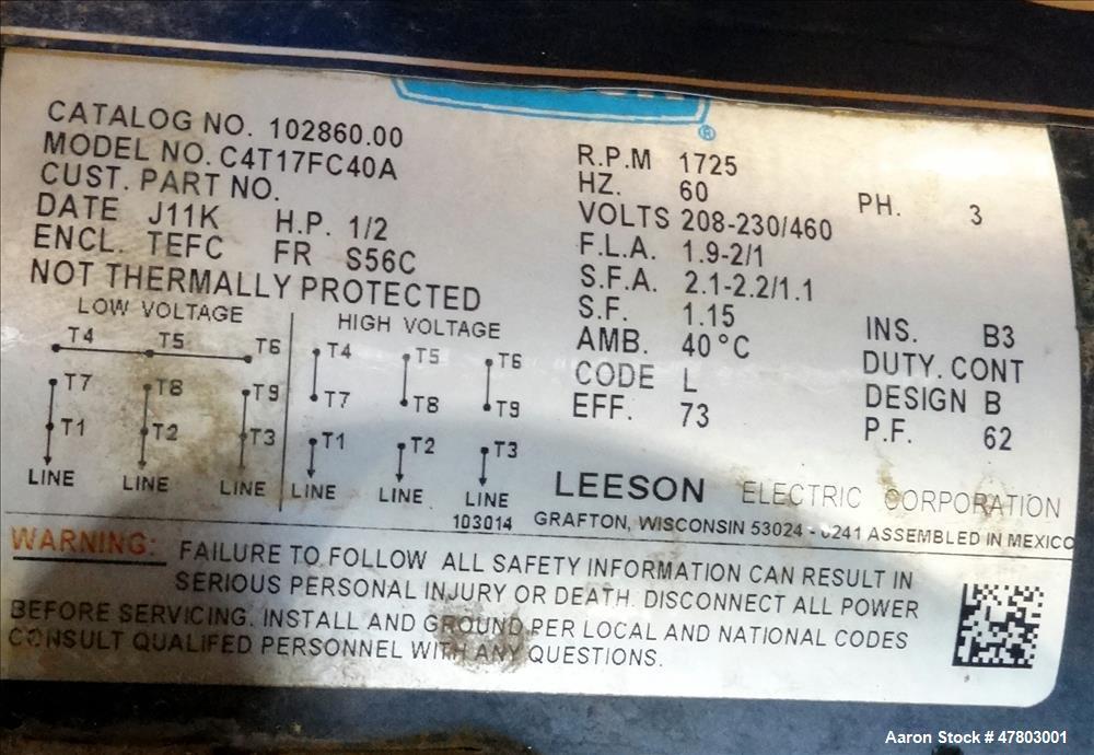 Used- Parkson Series 55 Light Solids Lamella Gravity Settler, Model 570, Carbon