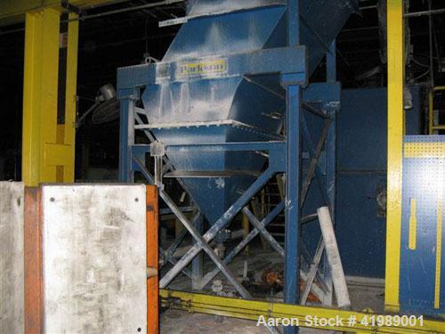 "Used-Parkson Lamella Gravity Settler. #300/55 with 2'0"" sq x 3'0"" high floc tank and 9"" sq F.M. tank."