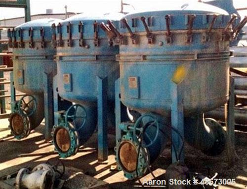 Used- GAF Filter Industrial Water Filtration Unit, Model RB27C-2L. Comes with inline pumps and gearbox, no motors.