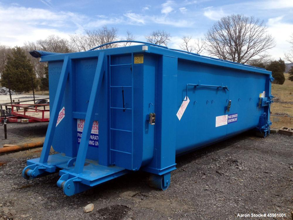 Used- Spectrum Equipment Divided Turbo Phase Separator Sludge Dewatering Unit. Container. 30 cubic yard capacity. Mfg. 2009.