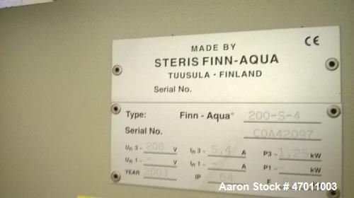 Used- Steris Finn-Aqua Multiple Effect Water Still