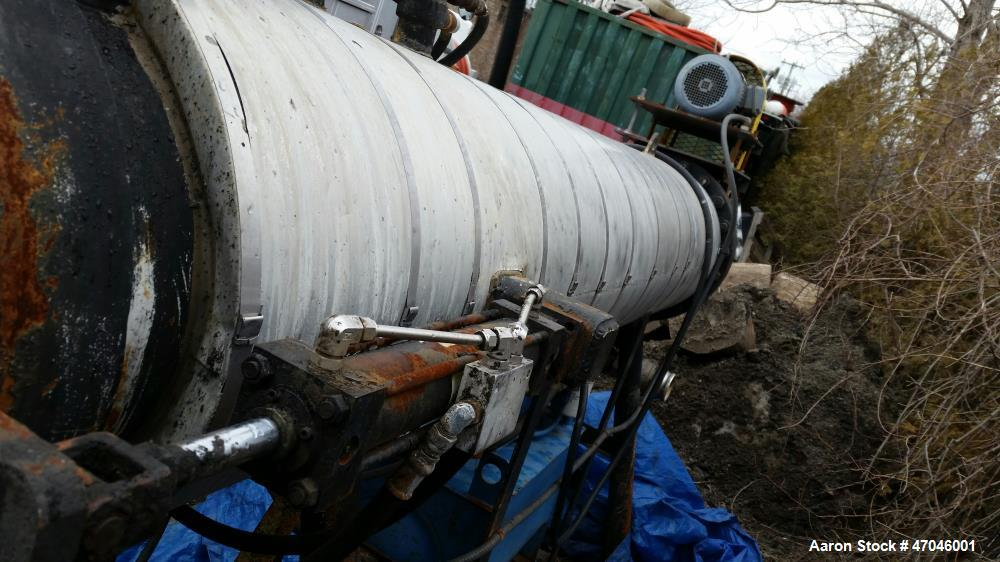 Used- Oil/Water Separator, Model SV-2. 25 gpm, 3 inch inlet and outlet piping, 5 HP Baldor electric motor. 1725 rpm.