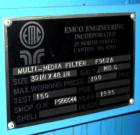 Used- EMCO Engineering Inc. Multi-Media Filter. (2) size 30 x 48, 160 gallon tanks, rated 100 psi. S/N # 902A, and 902B. Sho...