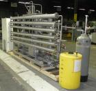 Used- US Filter Reverse Osmosis Water Treatment Skid, 316 Stainless Steel. Consits of: (6) approximately 4