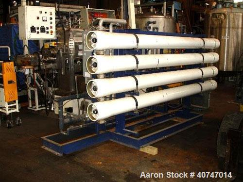 Used- US Filter Reverse Osmosis System, model 42/S8695-060, (4) model 80A30 membrane housings rated 300 psi at -20/+120 F, 8...