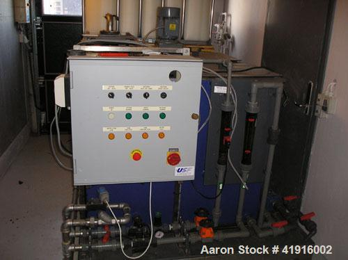 Used-USF Wallace & Tiernan Dry Polymer Mixer with a DP 5.0 VMZ powder preparation unit. Max powder dosaging 66 lbs/h (30 kg/...