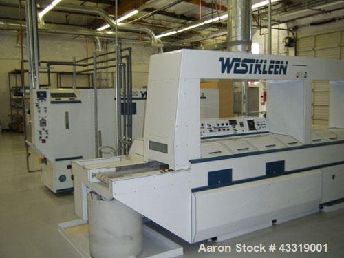 Used-WestKleen Inline Aqueous Cleaning System, Formula II, with dedicated water treatment system (DWTS).  Includes prewash, ...
