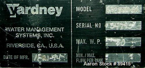 """Used- Yardney Granular Activated Carbon Filter System, model GAC5472-3A, carbon steel. (3) 54"""" diameter x 72"""" tall epoxy coa..."""