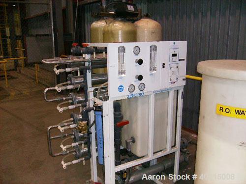 Used-Zenon Reverse Osmosis Skid, model SF2400. Motor 7.5 hp, 3600 rpm, L184TC, 330/575 volt, 3 phase, 60 hz, TEFC.